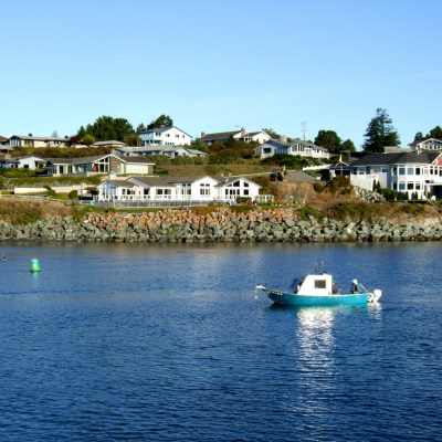 Fishing boat in the Crescent City, California harbor