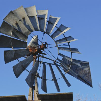 Windmill at Jack Stone Barn between Lemoore and Hanford, California