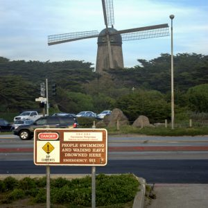 Dutch Windmill in the Golden Gate Park near the Pacific Ocean in San Francisco, California