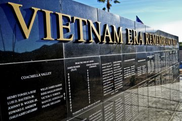 General Patton Memorial Museum Vietnam Era Rememberence Wall in Chiriaco Summit, California.