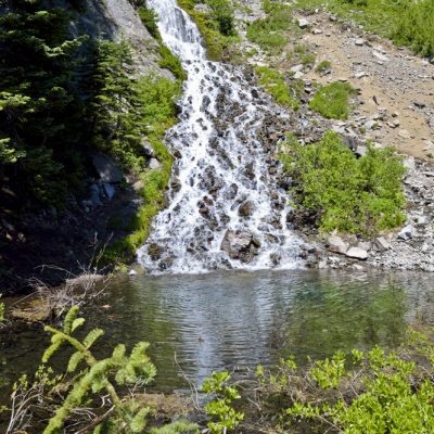Vidae Falls on the East Rim of Crater Lake, Oregon