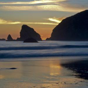 Sunset over the Brookings, Oregon Pacific Coast